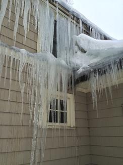 ice dam on home