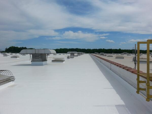 Silicone coated roof