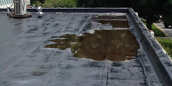 ponding roof water