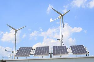 rooftop-solar-panels-wind-turbines